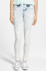 Volcom 'Liberator' Denim Leggings Smokey Blue