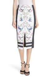 Ted Baker London Highgrove Pencil Skirt White