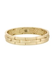 Laundry By Shelli Segal Watch Band Link Stretch Bracelet Gold