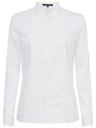 French Connection Hennessey Cotton Shirt Summer White