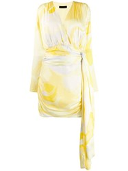 Stine Goya Madison Ruched Mini Dress Yellow