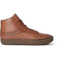 Coach Leather High Top Sneakers Brown
