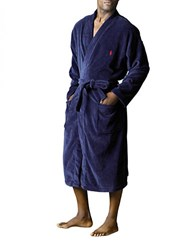 Polo Ralph Lauren Velour Robe Navy
