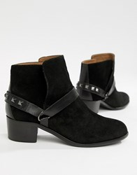Hudson H By Leather Ankle Boots Black