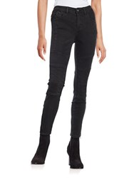 Free People Moto Skinny Jeans Black