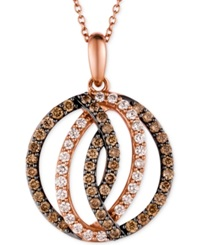 Le Vian Chocolatier Diamond Circle Pendant In 14K Strawberry Rose Gold 1 Ct. T.W.