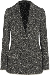 Dolce And Gabbana Wool Blend Boucle Blazer