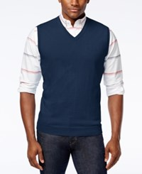 Club Room Sweater Vest Only At Macy's Navy Blue
