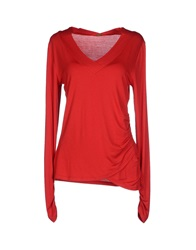 Elie Tahari T Shirts Red