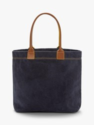 Boden Holywell Cotton Canvas Tote Bag Navy