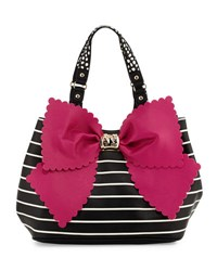 Betsey Johnson Knot Your Average Bow Tote Bag Fuchsia