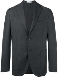 Boglioli Notched Lapel Blazer Grey