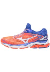 Mizuno Wave Ultima 8 Cushioned Running Shoes Fiery Coral White Dazzling Blue