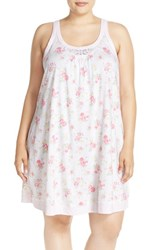 Plus Size Women's Midnight By Carole Hochman Floral Cotton Chemise