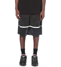 Astrid Andersen Mesh Panel Jersey Basketball Shorts Black