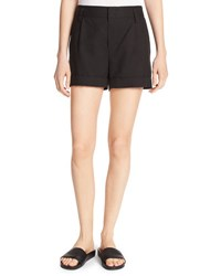 Vince Slouchy Sateen Single Pleat Shorts Black