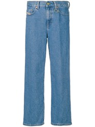 Diesel Treated Wide Leg Jeans Blue