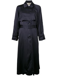Cityshop Belted Light Trench Coat Blue