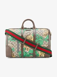 Gucci Bengal Gg Supreme Duffle Bag Brown