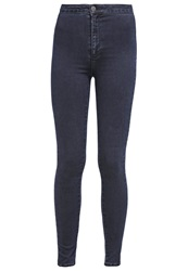 Miss Selfridge Steffi Slim Fit Jeans Navy Blue Blue Black Denim
