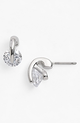 Givenchy Stud Earrings Silver Crystal