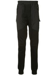 Les Benjamins Technical Track Pants Black