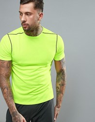 New Look Sport Fluorescent T Shirt In Yellow Yellow