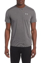 Under Armour Men's 'Streaker Run' Microthread T Shirt Carbon Heather Reflective