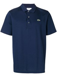 Lacoste Embroidered Logo Polo Shirt Blue