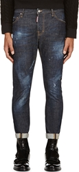 Dsquared Blue Distressed Sexy Twist Jeans