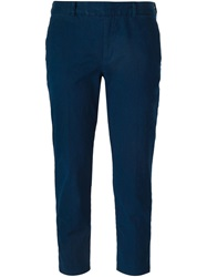 Paul By Paul Smith Cropped Trousers Blue