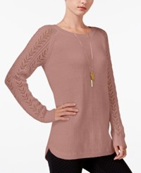 Maison Jules Pointelle Sweater Only At Macy's Fresco Pink