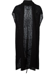 Cedric Jacquemyn Sleeveless Open Front Cardigan Black