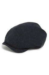 Men's Wigens Herringbone Wool Driving Cap