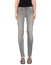 Replay Denim Denim Trousers Women Grey