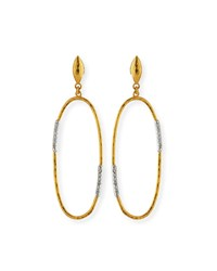 Gurhan 22K Diamond Pave Hoop Drop Earrings