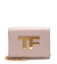Tom Ford Icon Leather Shoulder Bag Neutrals
