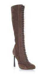 Giambattista Valli Tall Lace Up Pumps Brown