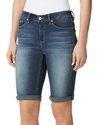 Miraclebody Jeans Faith Bermuda Shorts Blue