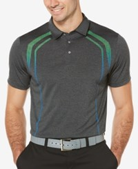 Pga Tour Men's Luminous Golf Polo Black Grey