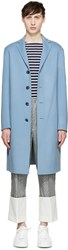 Acne Studios Blue Wool And Cashmere Charlie Coat