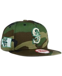 New Era Seattle Mariners State Clip 9Fifty Snapback Cap Camo