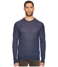 Belstaff Nevenden Linen Blend Pullover Washed Navy Men's Sweater