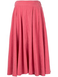 Cityshop High Waisted Pleated Skirt Polyester Pink Purple