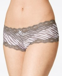 Maidenform Scalloped Lace Hipster 40823 Steel Grey Zebra With Steel Grey