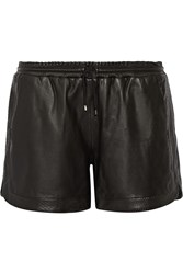 Karl Lagerfeld Ivonne Leather Shorts Black