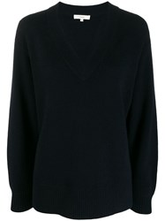 Vince V Neck Jumper Blue