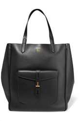 Tom Ford Hollywood Large Leather Tote Black