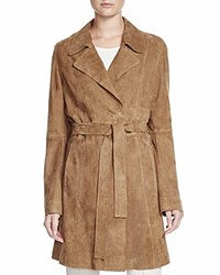 Basler Suede Trench Coat Taupe