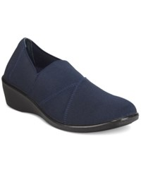 Easy Street Shoes Trance Flats Women's Navy
